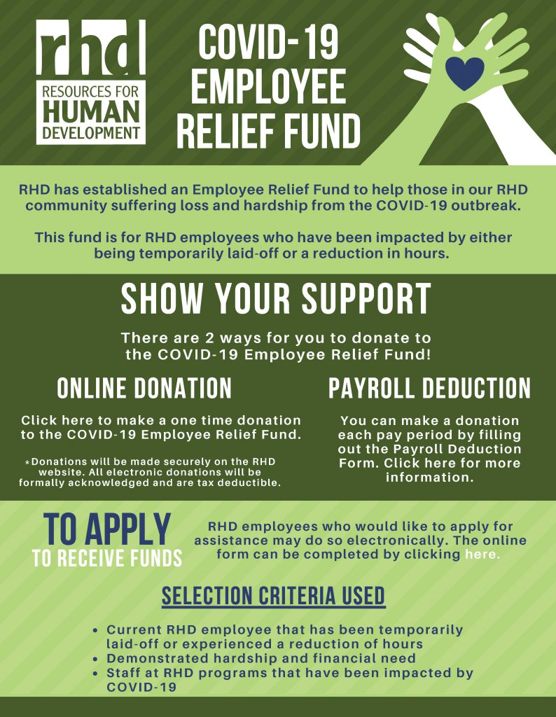 covid employee relief fund